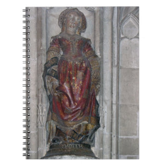 Statue of Judith (polychrome stone) Spiral Notebook