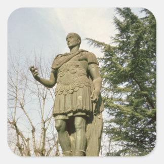 Statue of Julius Caesar Square Stickers