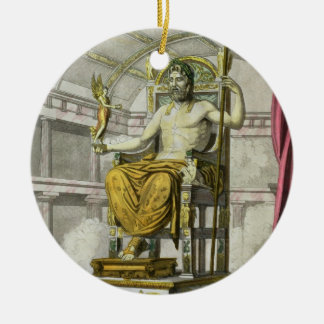 Statue of Jupiter in a Temple, from 'Costumi dei R Christmas Ornament