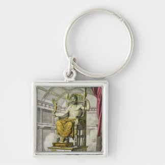 Statue of Jupiter in a Temple, from 'Costumi dei R Key Ring