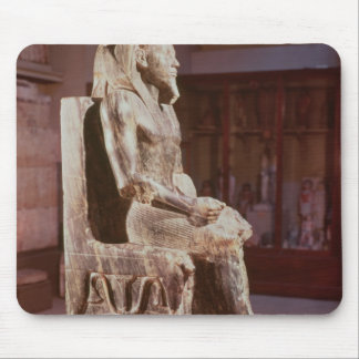 Statue of Khafre  enthroned Mouse Pad