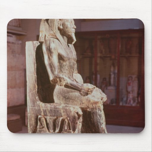 Statue of Khafre  enthroned Mouse Pads
