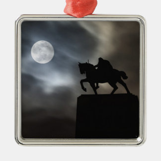 Statue of King Kralja Tomislava silhouetted Christmas Ornament
