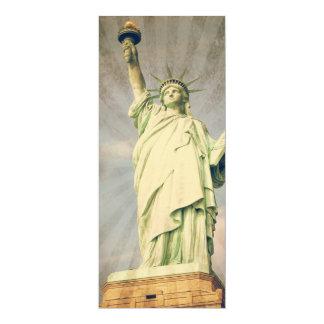 Statue of Liberty 10 Cm X 24 Cm Invitation Card
