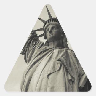 Statue of Liberty 10 Triangle Sticker