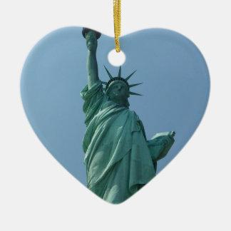 Statue of Liberty 11 Ceramic Heart Decoration