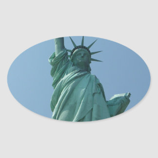 Statue of Liberty 11 Oval Sticker