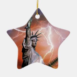 Statue of Liberty 12 Ceramic Star Decoration