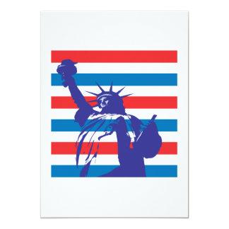 Statue Of Liberty 13 Cm X 18 Cm Invitation Card