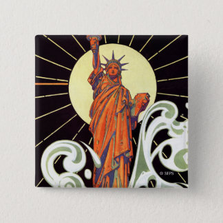 Statue of Liberty 15 Cm Square Badge