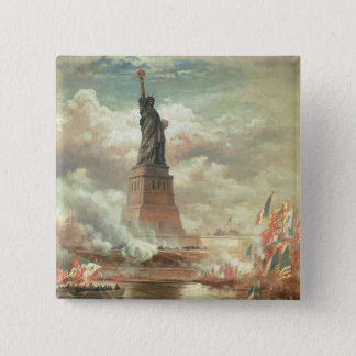 Statue of Liberty 15 Cm Square Badge
