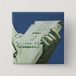 Statue of Liberty 2 15 Cm Square Badge