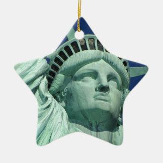 Statue of Liberty 2 Ceramic Star Decoration