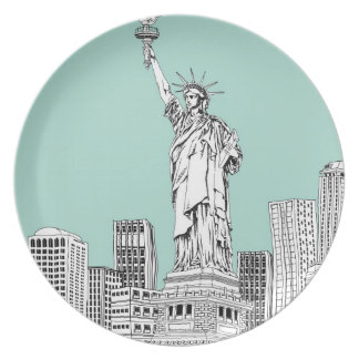 Statue of Liberty 2 Party Plates