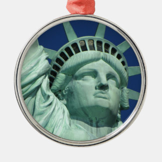 Statue of Liberty 2 Silver-Colored Round Decoration