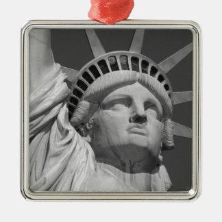 Statue of Liberty 2 Silver-Colored Square Decoration