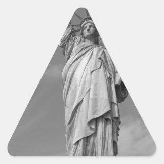 Statue of Liberty 3 Triangle Sticker
