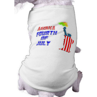 Statue of liberty 4th of July Dog Tshirt
