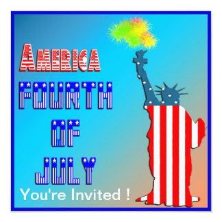 Statue of liberty 4th of July Invitation