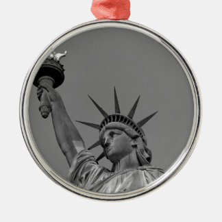 Statue of Liberty 7 Silver-Colored Round Decoration