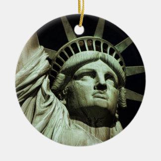 Statue of Liberty 8 Round Ceramic Decoration