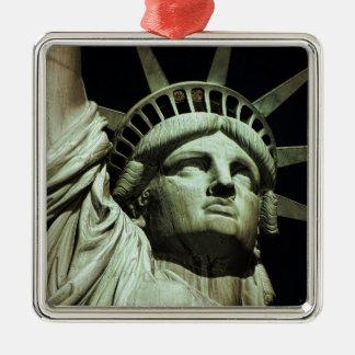 Statue of Liberty 8 Silver-Colored Square Decoration