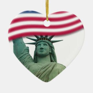 Statue of Liberty 9 Ceramic Heart Decoration