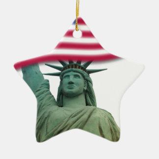 Statue of Liberty 9 Ceramic Star Decoration