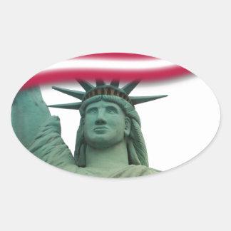 Statue of Liberty 9 Oval Sticker