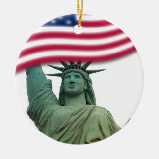 Statue of Liberty 9 Round Ceramic Decoration