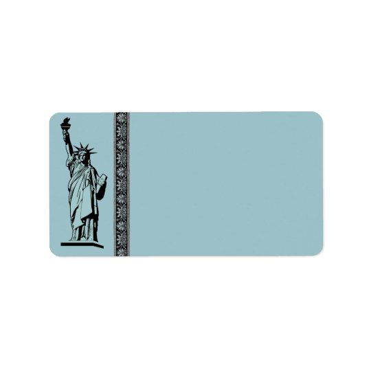 Statue of Liberty Address Label