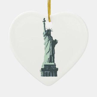 statue of liberty.ai ceramic heart decoration
