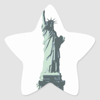 statue of liberty.ai star sticker