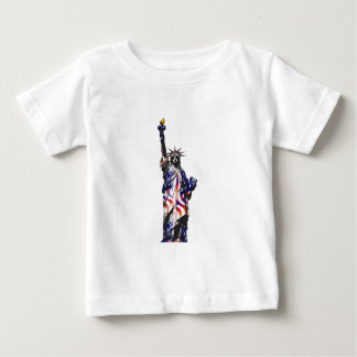 Statue Of Liberty American USA National Flag Indep Baby T-Shirt