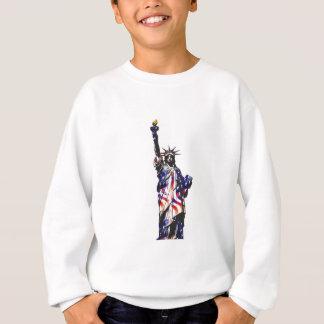 Statue Of Liberty American USA National Flag Indep Sweatshirt