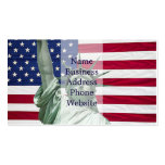 Statue of Liberty and American Flag Pack Of Standard Business Cards