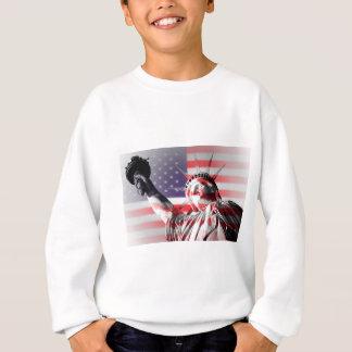 Statue of Liberty and American flag Sweatshirt