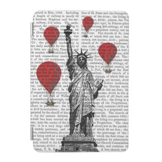Statue Of Liberty and Red Hot Air Balloons iPad Mini Cover