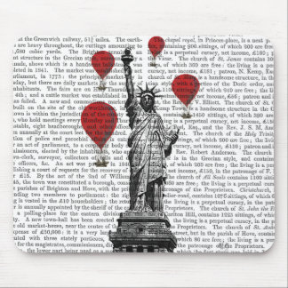 Statue Of Liberty and Red Hot Air Balloons Mouse Mat