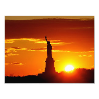 Statue of Liberty at Sunset Art Photo