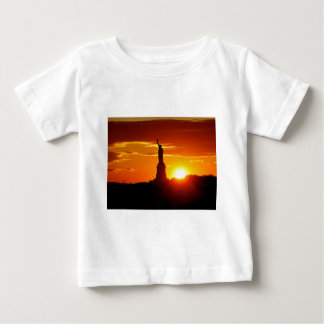 Statue of Liberty at Sunset Baby T-Shirt
