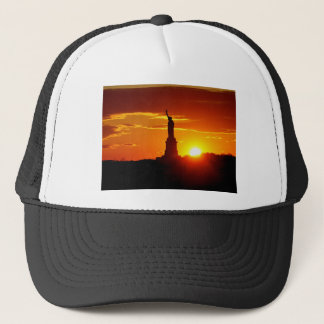 Statue of Liberty at Sunset Trucker Hat