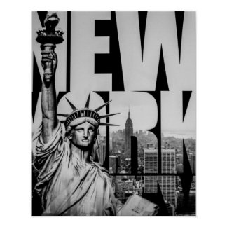 Statue of Liberty B&W Poster