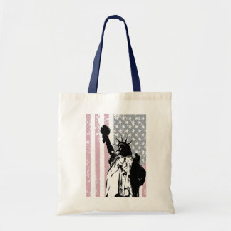 Statue Of Liberty Background Tote Bag