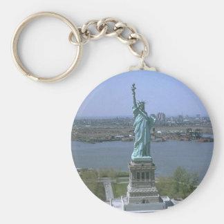 Statue of Liberty Basic Round Button Key Ring