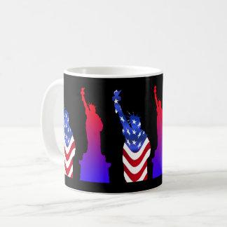 Statue of Liberty Black Coffee Mug