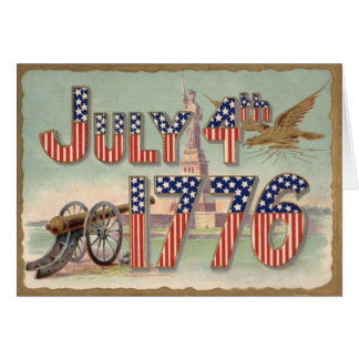 Statue of Liberty Cannon Stars & Stripes Card