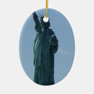 Statue of Liberty Ceramic Oval Decoration