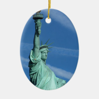 Statue of Liberty. Ceramic Oval Decoration