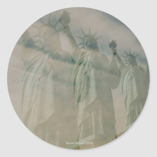 Statue of Liberty Classic Round Sticker
